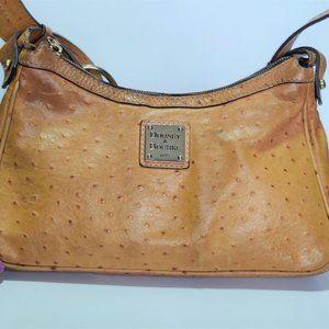 VINTAGE DOONEY & BOURKE OSTRICH HOBO SHOULDER BAG